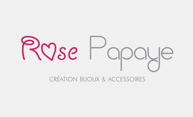 création logo rose papaye