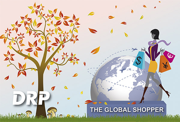 illustration the global shopper automne