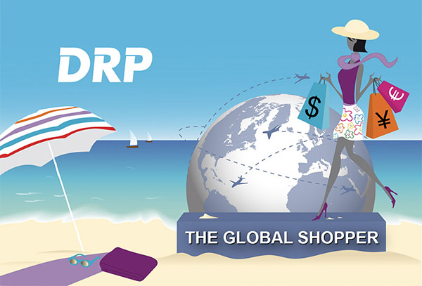 illustration the global shopper été