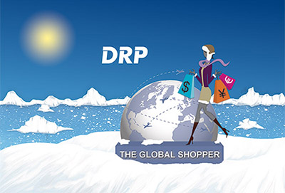 illustration the global shopper hiver
