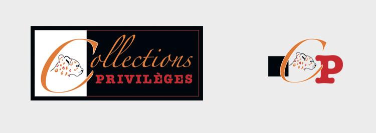 création logo et tampon collections privilèges