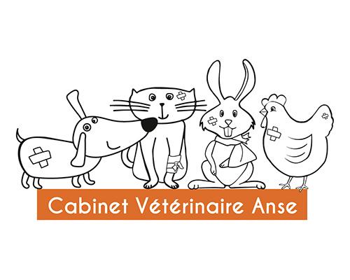 création logotype cabinet vétérinaire Anse