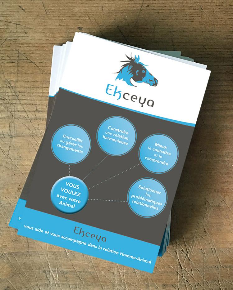 création flyer ekceya