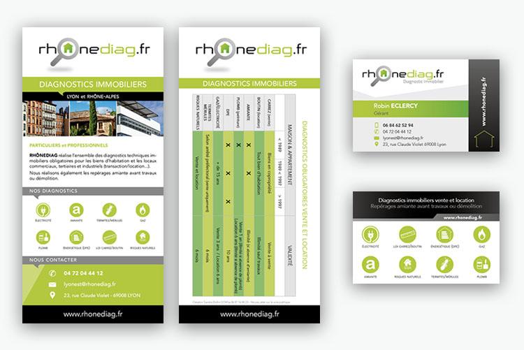 création flyer et carte de visite
